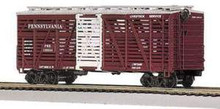 MTH Premier PRR Steel Sided Stock Car, 3 rail