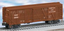 Lionel  N&W  40' ACF 40 ton stock car , 3 rail