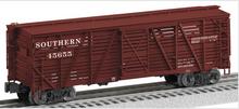 Lionel  Southern  40' ACF 40 ton stock car , 3 rail