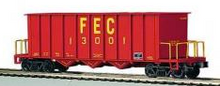 MTH Premier FEC Rapid Discharge Hopper Car, 3 rail