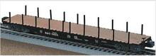 Lionel B&O  PS-4  50'  wood deck flat car