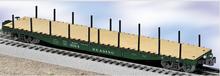 Lionel Reading  PS-4  50'  wood deck flat car