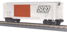 MTH Rail King SOO Line 40' Double Door Box car, 3 rail LN