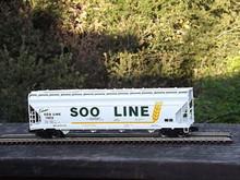 Weaver Special run SOO Line 50' acf centerflow covered hopper, 2 rail or 3 rail
