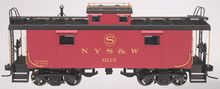Atlas O NYS&W NE-6 caboose (yellow lettering), 2 rail