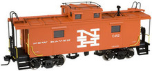 Atlas O New Haven (orange) NE-6 caboose, 2 rail