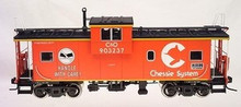 "Atlas O Chessie System ""Careful Handling"" Extended Vision caboose, 3 rail"