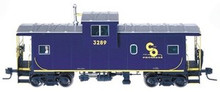 Atlas O Chesapeake & Ohio Extended Vision caboose, 3 rail or 2 rail