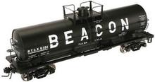 Atlas O Beacon Petrolium 11,000 gallon tank car, 3 rail or 2 rail