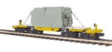 MTH Premier TTX 47' Articulated High Capacity Flat Car with Transformer, 3 rail