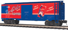 MTH Premier, Van Curler Coffee  plug door (bunkerless) Reefer,  3 rail