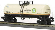 MTH Premier BNSF Tank Car (green and cream), 3 rail