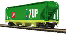 MTH Premier 7UP 3-Bay Centerflow Hopper, 3 rail