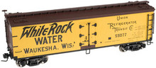 Atlas O White Rock Water 40' wood reefer, 3 rail or 2 rail  car