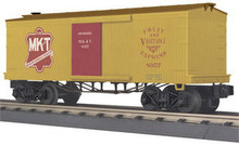 MTH Rail King Missouri Kansas & Texas 34' 19th Cent. Box car, 3 rail