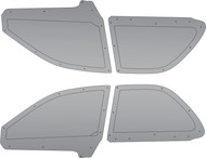 6OVRCRST Polycarbonate / Carbon Fiber Rear Windows (PAIR) - Subaru Impreza 93-01 Sedan