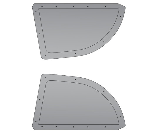 6OVRCRST Polycarbonate / Carbon Fiber Rear Windows (PAIR) - Subaru Impreza 02-07 WRX / STI (WINDOWS.GD)