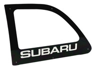 6OVRCRST WRC Style Polycarbonate Rear Windows for Subaru 1992-2001 Impreza Coupe (left)