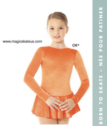 Mondor Skating Dress Style 2711, Orange