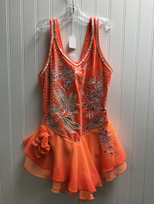 Orange competition dress (pre-owned)