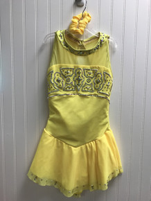 Yellow competition dress (pre-owned)