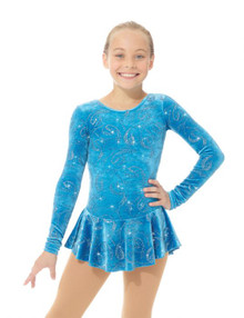 Mondor Skating Dress Style 2723, Turquoise Ribbons - RT