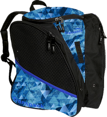 Transpack Back Pack Bag - Blue Topo