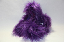 Purple Glitter Crazy Fur
