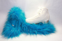 Turquoise Glitter Crazy Fur