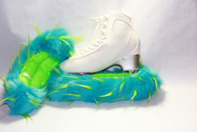 Turquoise and Lime Crazy Fur