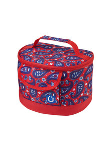 LUNCHBOX, PAISLEY IN RED