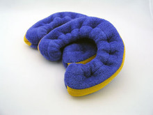 Royal blue blade covers reinforced with gold webbing