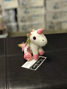 Unicorn Keychain with Crystal Skates