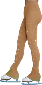 Footless Tights TL8896 2Crystal (w/crystals on 2 thighs)