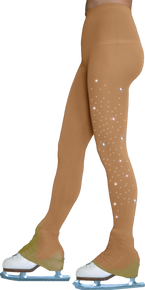 Footless Tights TL8896 1Crystal (w/crystals on 1 thigh)