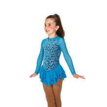 10 Swirl On Dress - Turquoise, size 10-12