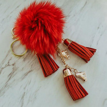 Fluffy & Red Skate Keychain