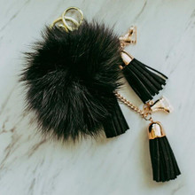Fluffy & Black Skate Keychain