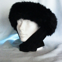 Halo Hats - Faux Fur Black Rabbit