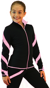 Spiral Skate Jacket J36SW, Black/Pink with Swarovski Crystals