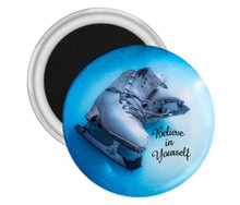 Ice Skating Magnet Believe in Yourself