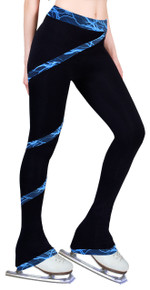 Polar Fleece Spiral Pants Lighting Foil Blue