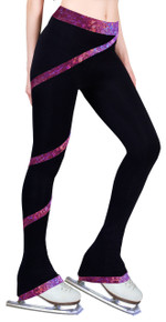 Polar Fleece Spiral Pants Hologram Foil Fuchsia