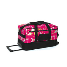 6045 Graffiti Skate Bag On Wheels - Deep Pink