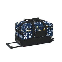 6085 Graffiti Skate Bag On Wheels - Navy Blue