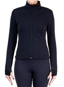 Fitted Skating Fleece Jacket Black, size CXXS