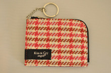 ICE PASS/CARD HOLDER - HOUNDSTOOTH - PINK X BROWN
