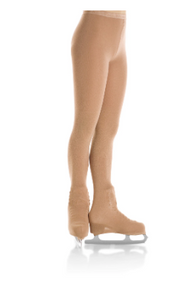 Set of TWO PAIRS, Tights 3302 Boot cover Natural Bamboo, size 8-10, Suntan