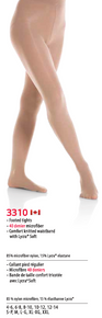 SET OF TWO PAIRS, MONDOR Footed tights  3310 Footed Size 4-6 Suntan