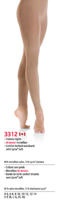 SET OF TWO PAIRS, MONDOR STYLE: 3312 Footless Performance Tights, Size 4-6, Light Tan